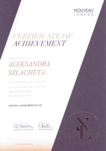 Certyfikat Aleksandra Szlacheta
