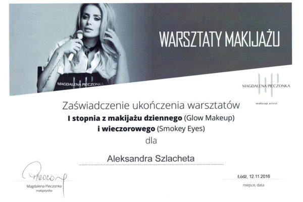 Liliowe zacisze certyfikat Aleksandra Szlacheta